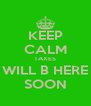 KEEP CALM TAXES WILL B HERE SOON - Personalised Poster A4 size