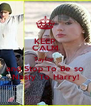 KEEP CALM Taylor  and Stop To Be so Nasty To Harry! - Personalised Poster A4 size