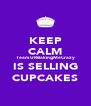 KEEP CALM Team URBakingMeCrazy IS SELLING CUPCAKES - Personalised Poster A4 size