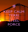 KEEP CALM TERRI AND RIDE STEEL FORCE - Personalised Poster A4 size