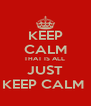 KEEP CALM THAT IS ALL  JUST KEEP CALM  - Personalised Poster A4 size