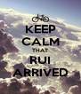 KEEP CALM THAT RUI ARRIVED - Personalised Poster A4 size