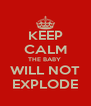 KEEP CALM THE BABY  WILL NOT EXPLODE - Personalised Poster A4 size