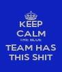 KEEP CALM THE BLUE TEAM HAS THIS SHIT - Personalised Poster A4 size