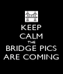 KEEP CALM THE BRIDGE PICS ARE COMING - Personalised Poster A4 size