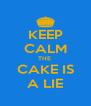 KEEP CALM THE  CAKE IS A LIE - Personalised Poster A4 size