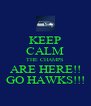 KEEP CALM THE CHAMPS ARE HERE!! GO HAWKS!!! - Personalised Poster A4 size