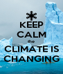 KEEP CALM the CLIMATE IS CHANGING - Personalised Poster A4 size