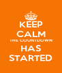 KEEP CALM THE COUNTDOWN HAS STARTED - Personalised Poster A4 size