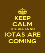 KEEP CALM THE DELTA NU IOTAS ARE COMING - Personalised Poster A4 size