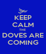 KEEP CALM THE  DOVES ARE COMING - Personalised Poster A4 size