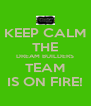 KEEP CALM THE DREAM BUILDERS TEAM IS ON FIRE! - Personalised Poster A4 size