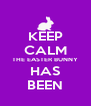KEEP CALM THE EASTER BUNNY HAS BEEN - Personalised Poster A4 size