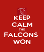 KEEP CALM THE FALCONS  WON - Personalised Poster A4 size