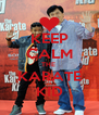 KEEP CALM THE  KARATE KID - Personalised Poster A4 size