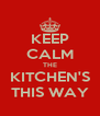 KEEP CALM THE KITCHEN'S THIS WAY - Personalised Poster A4 size