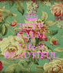 KEEP CALM THE  Life is BEAUTIFUL - Personalised Poster A4 size