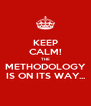 KEEP CALM! THE METHODOLOGY IS ON ITS WAY... - Personalised Poster A4 size