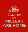 KEEP CALM THE MILLERS ARE HOME - Personalised Poster A4 size