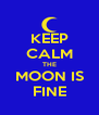 KEEP CALM THE MOON IS FINE - Personalised Poster A4 size