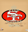 KEEP CALM THE NINERS WON - Personalised Poster A4 size