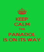 KEEP CALM THE PANADOL IS ON ITS WAY - Personalised Poster A4 size