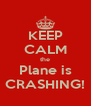 KEEP CALM the Plane is CRASHING! - Personalised Poster A4 size