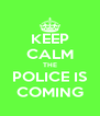KEEP CALM THE POLICE IS COMING - Personalised Poster A4 size