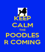 KEEP CALM THE POODLES R COMING - Personalised Poster A4 size