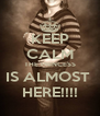 KEEP CALM THE PRINCESS IS ALMOST  HERE!!!! - Personalised Poster A4 size