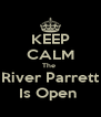 KEEP CALM The  River Parrett Is Open  - Personalised Poster A4 size