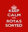KEEP CALM THE  ROTAS SORTED - Personalised Poster A4 size