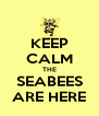 KEEP CALM THE SEABEES ARE HERE - Personalised Poster A4 size