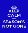 KEEP CALM THE SEASON'S NOT GONE - Personalised Poster A4 size