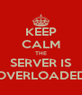 KEEP CALM THE SERVER IS OVERLOADED - Personalised Poster A4 size