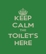 KEEP CALM THE TOILET'S HERE - Personalised Poster A4 size