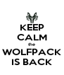 KEEP CALM the WOLFPACK IS BACK - Personalised Poster A4 size