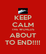 KEEP CALM THE WORLDS ABOUT TO END!!!! - Personalised Poster A4 size