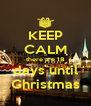 KEEP CALM there are 18 days until Christmas - Personalised Poster A4 size
