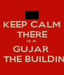 KEEP CALM THERE IS A  GUJAR  IN THE BUILDING - Personalised Poster A4 size