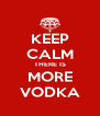 KEEP CALM THERE IS MORE VODKA - Personalised Poster A4 size