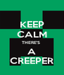 KEEP CALM THERE'S  A CREEPER - Personalised Poster A4 size