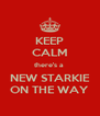 KEEP CALM there's a  NEW STARKIE ON THE WAY - Personalised Poster A4 size