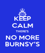 KEEP CALM THERE'S NO MORE BURNSY'S - Personalised Poster A4 size
