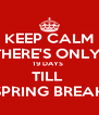 KEEP CALM THERE'S ONLY  19 DAYS  TILL  SPRING BREAK - Personalised Poster A4 size