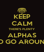 KEEP CALM THERE'S PLENTY ALPHAS TO GO AROUND - Personalised Poster A4 size