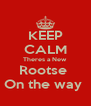 KEEP CALM Theres a New  Rootse  On the way  - Personalised Poster A4 size