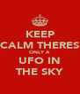 KEEP CALM THERES ONLY A UFO IN THE SKY - Personalised Poster A4 size