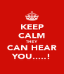 KEEP CALM THEY CAN HEAR YOU.....! - Personalised Poster A4 size