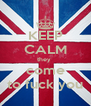 KEEP CALM they  come to fuck you - Personalised Poster A4 size